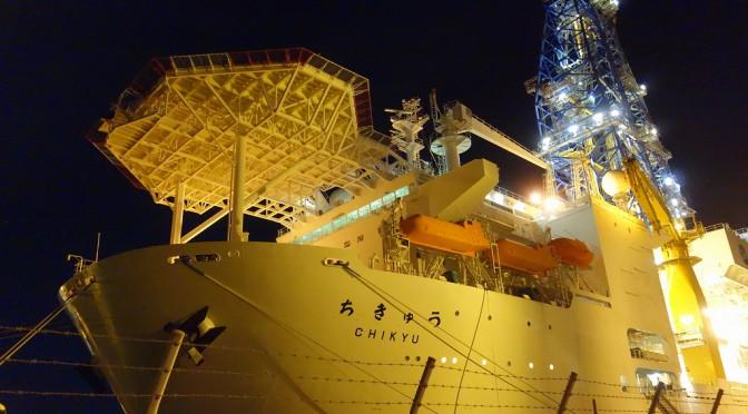 【清水港】地球深部探査船「ちきゅう」の夜景【DSC-RX100】