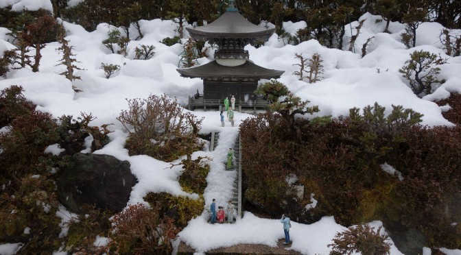 【滋賀】雪中の石山寺多宝塔【TWS】